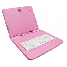 Funda Tablet Teclado 7 Rosa