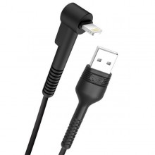 Cable NB100 Anti Rotura Acodado Lightning a USB Blanco 1M XO