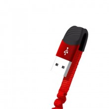 Cable NB127 Carga Rapida Resorte USB Lightning 21A 1 m Rojo XO